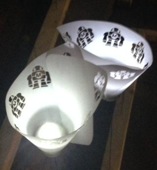 Laser-cut lanterns